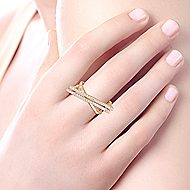 14k Yellow Gold Lusso Diamond Fashion Ladies' Ring angle 5