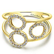 14k Yellow Gold Lusso Fashion Ladies Ring