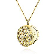 14k Yellow Gold Lusso Locket Necklace