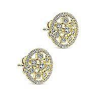 14k Yellow Gold Lusso Stud Earrings