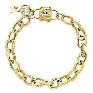 14k Yellow Gold Mediterranean Charm Bracelet angle 1