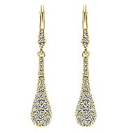 14k Yellow Gold Messier Drop Earrings angle 1