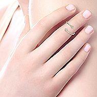 14k Yellow Gold Midi Ladies' Ring angle 5