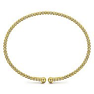 14k Yellow Gold Open Banded Bangle