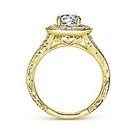 14k Yellow Gold Oval Halo Engagement Ring