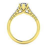 14k Yellow Gold Pear Shape Halo Engagement Ring angle 2
