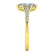 14k Yellow Gold Pear Shape Halo Engagement Ring angle 5