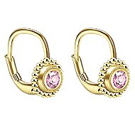 14k Yellow Gold Secret Garden Drop Earrings