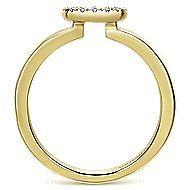 14k Yellow Gold Silk Classic Ladies' Ring angle 2