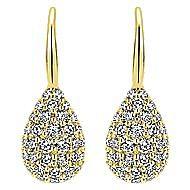 14k Yellow Gold Silk Drop Earrings