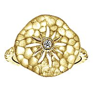 14k Yellow Gold Souviens Classic Ladies Ring