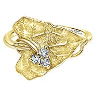 14k Yellow Gold Souviens Fashion Ladies' Ring angle 1