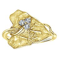 14k Yellow Gold Souviens Fashion Ladies' Ring angle 4