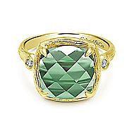 14k Yellow Gold Souviens Fashion Ladies' Ring angle 1