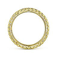 14k Yellow Gold Stackable Eternity Stackable Ladies' Ring angle 2