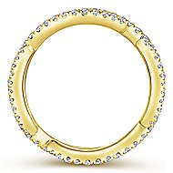 14k Yellow Gold Stackable Eternity Stackable Ladies Ring