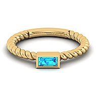 14k Yellow Gold Stackable Fashion Ladies' Ring angle 1