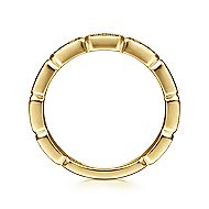 14k Yellow Gold Stackable Tri Diamond Ladies Ring