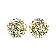 14k Yellow Gold Starlis Stud Earrings