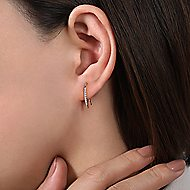 14k Yellow Gold Trends Ear Climber Earrings angle 2