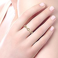 14k Yellow Gold Trends Fashion Ladies Ring