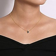 14k Yellow Gold Trends Fashion Necklace angle 3