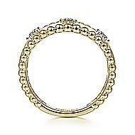 14k Yellow Gold Tri Band Diamond Fashion Ring