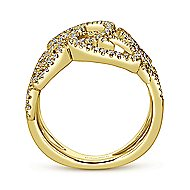14k Yellow Gold Victorian Fashion Ladies Ring