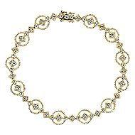 14k Yellow Gold Victorian Tennis Bracelet angle 1