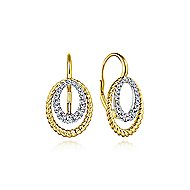 14k Yellow/White Gold Drop Earrings