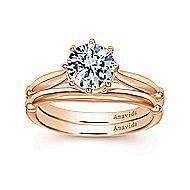 18K Rose Gold Engagement Ring