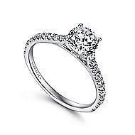18K W.Gold Diamond Engagement Ring