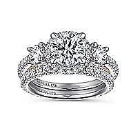 18K White-Rose Gold Engagement Ring
