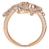 18k Rose Gold Lusso Fashion Ladies Ring