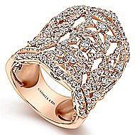 18k Rose Gold Lusso Statement Ladies Ring