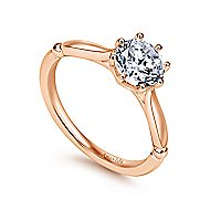 18k Rose Gold Round Solitaire Engagement Ring