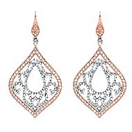 18k White And Rose Gold Mediterranean Drop Earrings angle 1