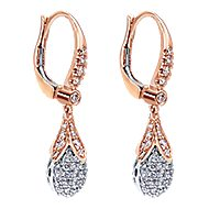 18k White And Rose Gold Silk Drop Earrings angle 2