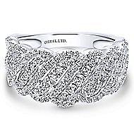 18k White Gold Allure Fashion Ladies' Ring angle 1