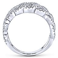18k White Gold Allure Fashion Ladies' Ring angle 2