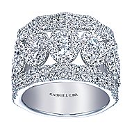 18k White Gold Allure Fashion Ladies' Ring angle 5