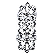 18k White Gold Allure Statement Ladies' Ring angle 4