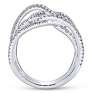18k White Gold Allure Wide Band Ladies' Ring angle 2