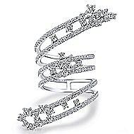 18k White Gold Amavida Fashion Statement Ladies' Ring angle 1