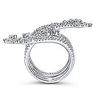 18k White Gold Amavida Fashion Statement Ladies' Ring angle 2