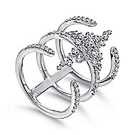 18k White Gold Amavida Fashion Statement Ladies' Ring angle 3