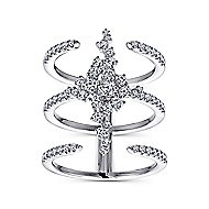 18k White Gold Amavida Fashion Statement Ladies' Ring angle 4