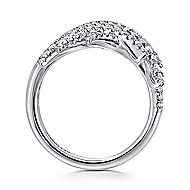 18k White Gold Art Moderne Fashion Ladies' Ring angle 2