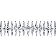 18k White Gold Art Moderne Tennis Bracelet