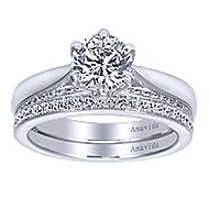 18k White Gold Contemporary Straight Wedding Band angle 4